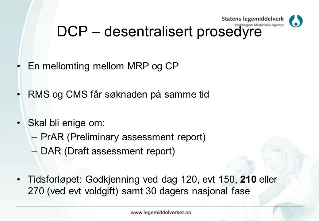 DCP – desentralisert prosedyre