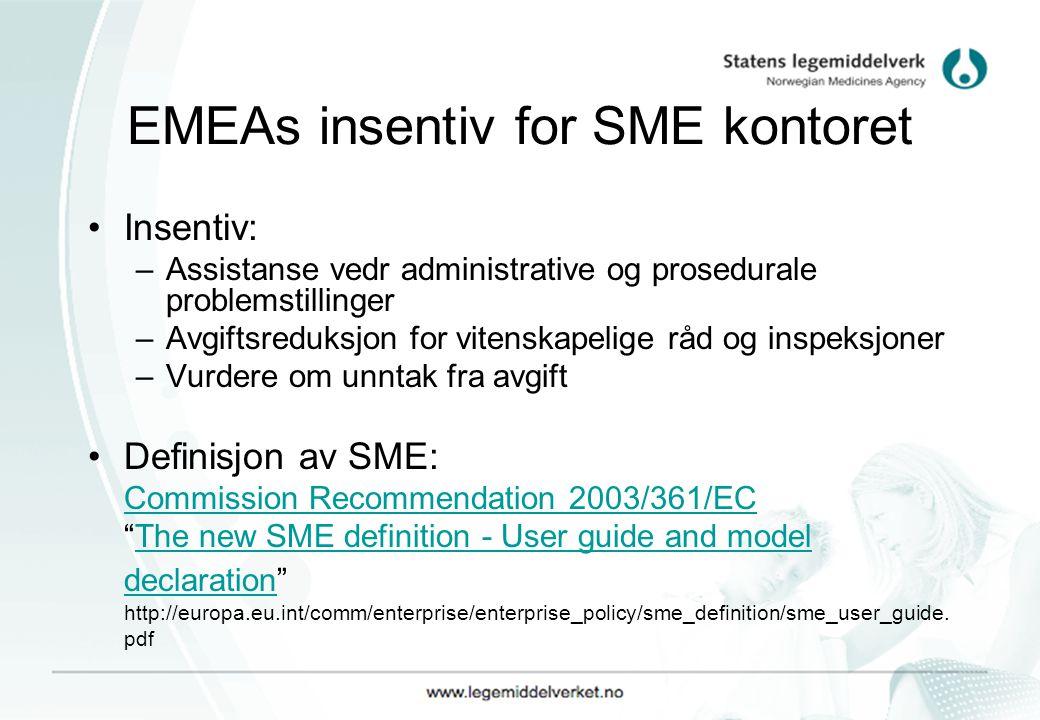 EMEAs insentiv for SME kontoret