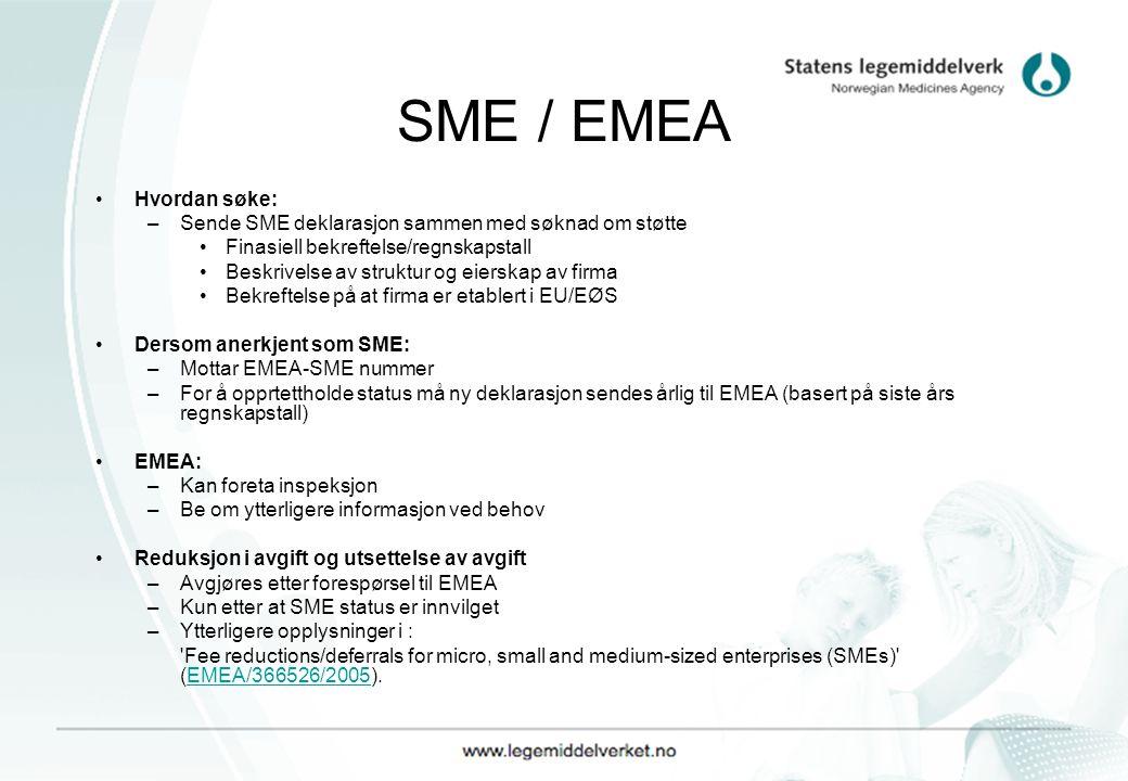 SME / EMEA Hvordan søke: