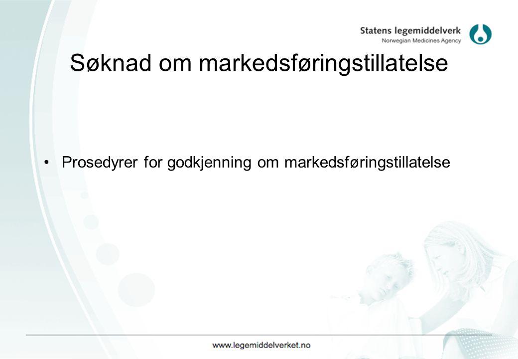 Søknad om markedsføringstillatelse