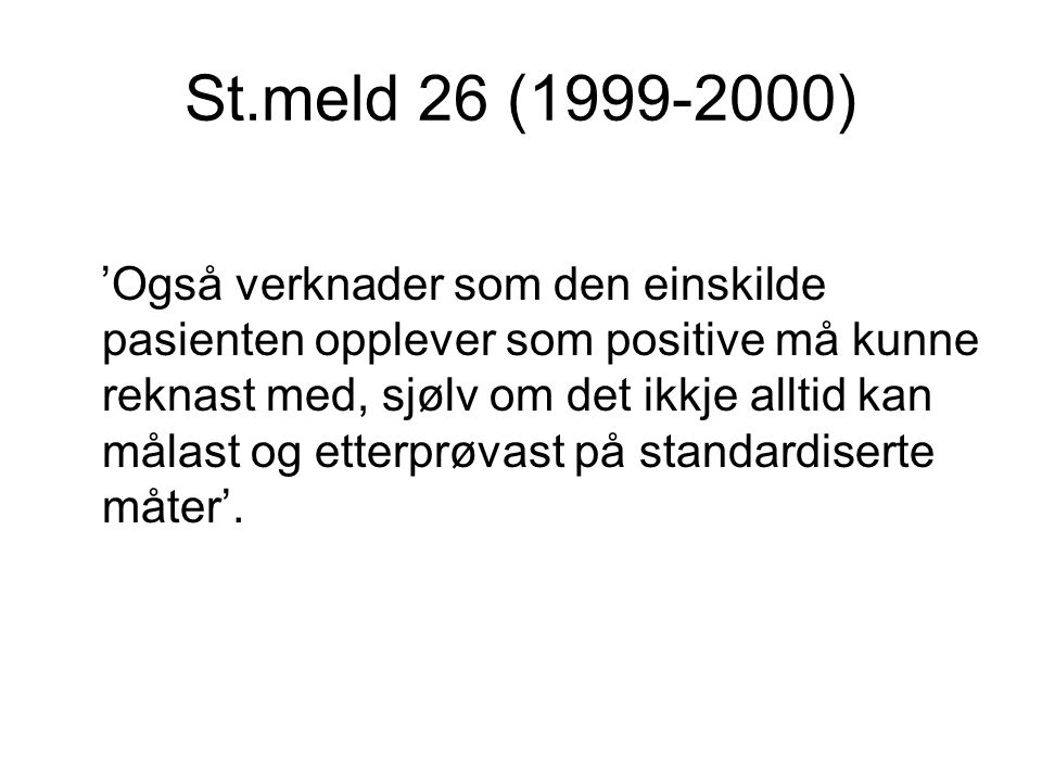 St.meld 26 (1999-2000)