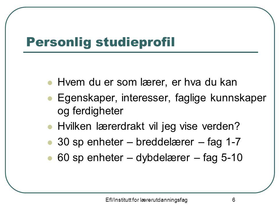 Personlig studieprofil
