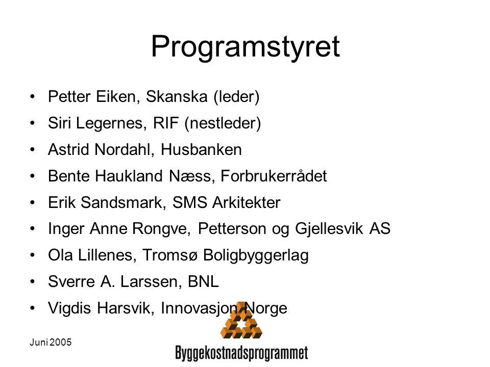 Programstyret Petter Eiken, Skanska (leder)