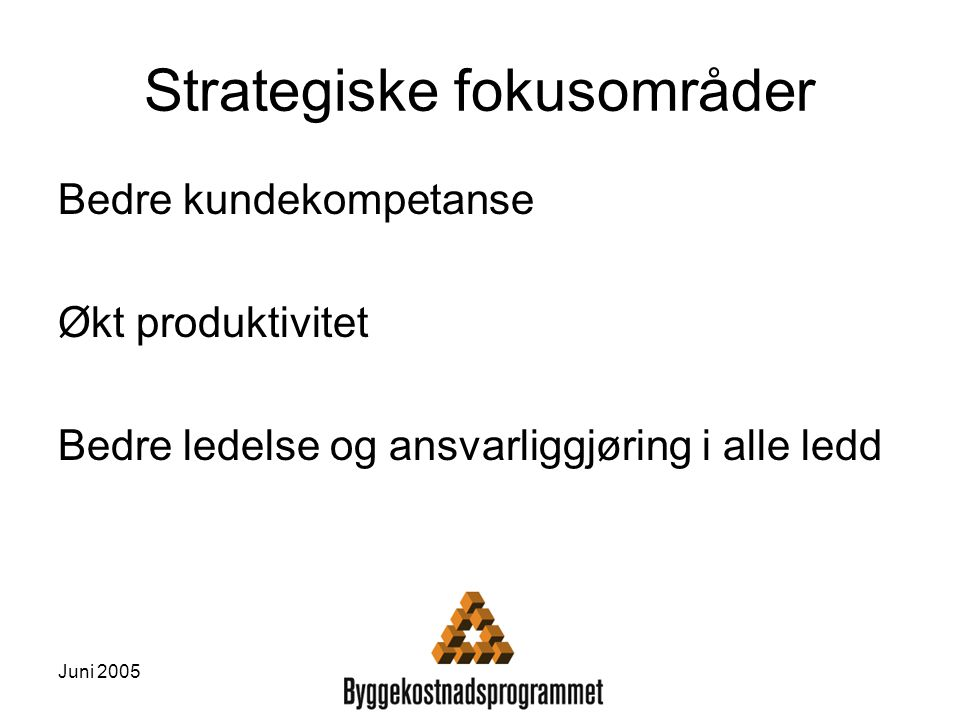Strategiske fokusområder