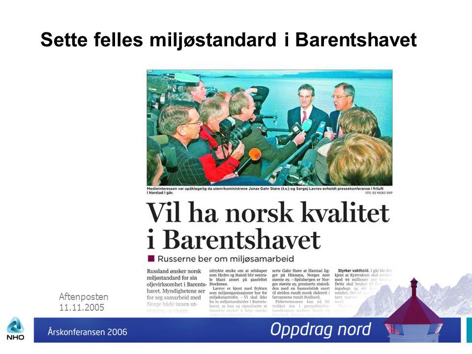 Sette felles miljøstandard i Barentshavet