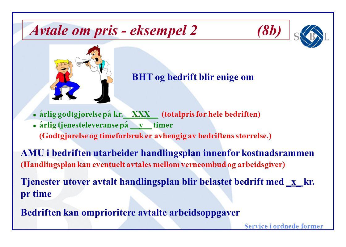 Avtale om pris - eksempel 2 (8b)