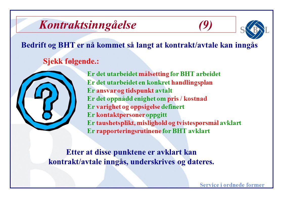 Kontraktsinngåelse (9)