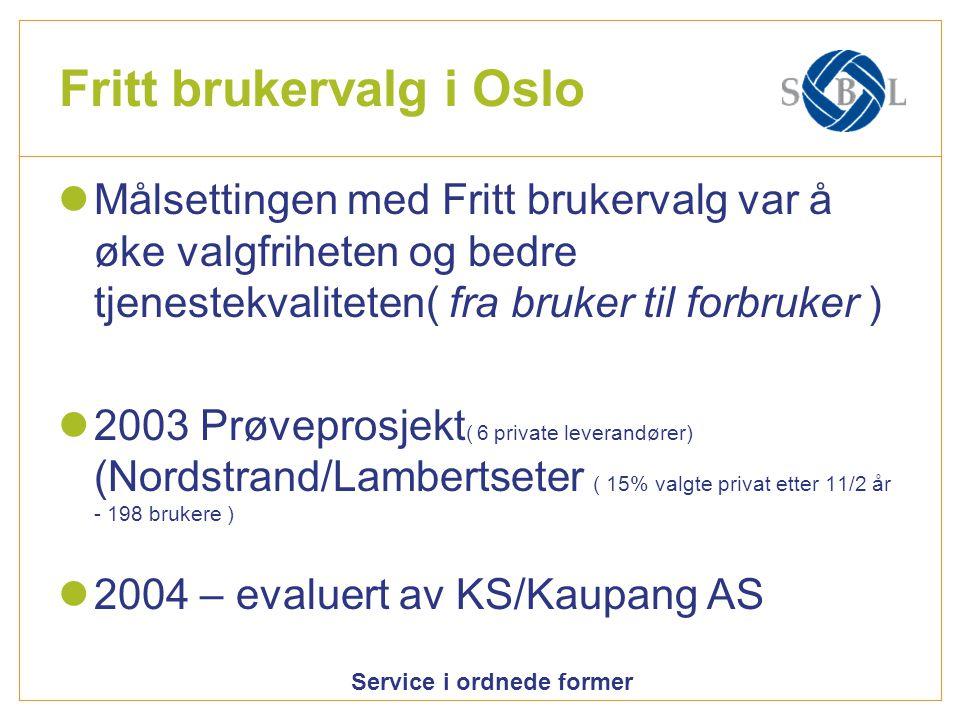 Fritt brukervalg i Oslo
