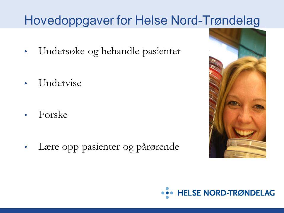 Hovedoppgaver for Helse Nord-Trøndelag