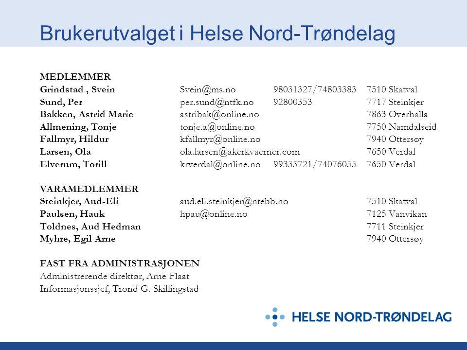 Brukerutvalget i Helse Nord-Trøndelag