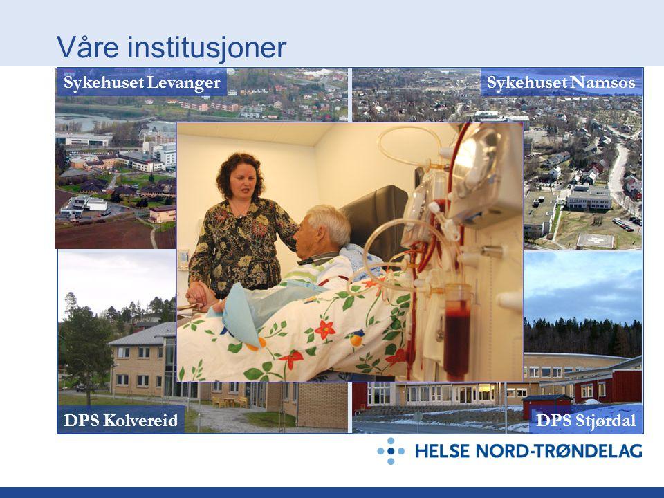 Våre institusjoner Sykehuset Levanger Sykehuset Namsos DPS Kolvereid