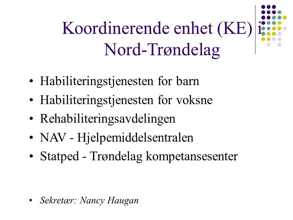 Koordinerende enhet (KE) i Nord-Trøndelag