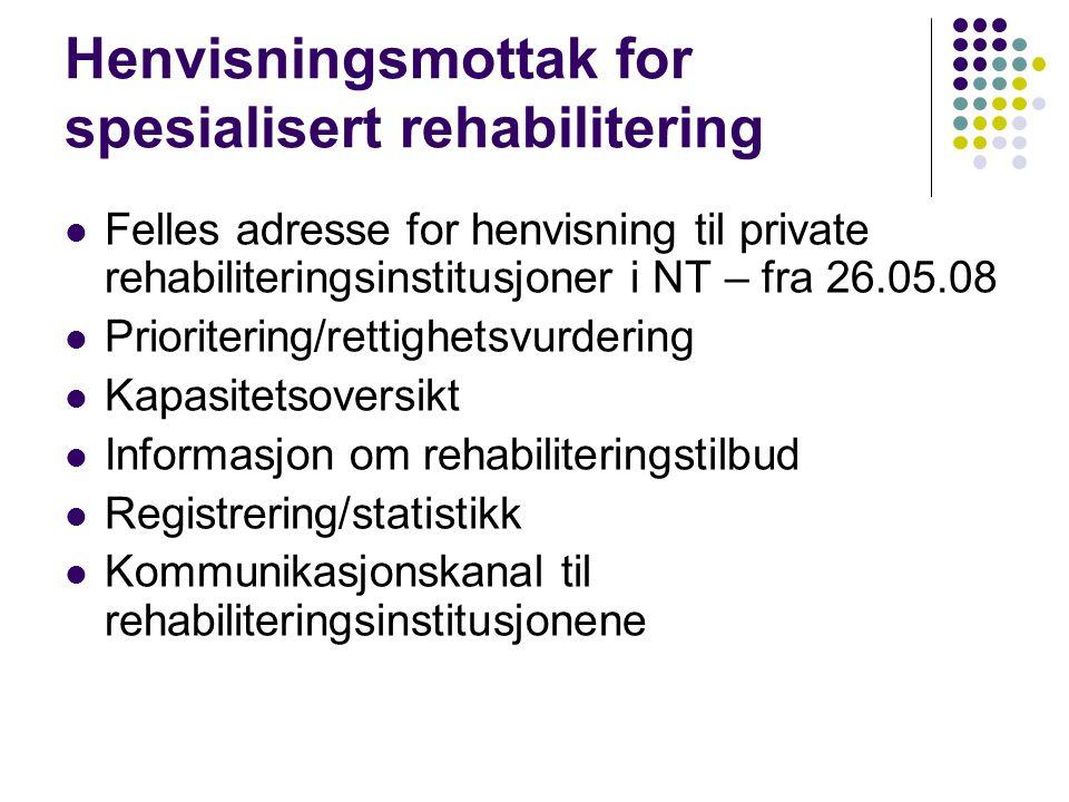 Henvisningsmottak for spesialisert rehabilitering
