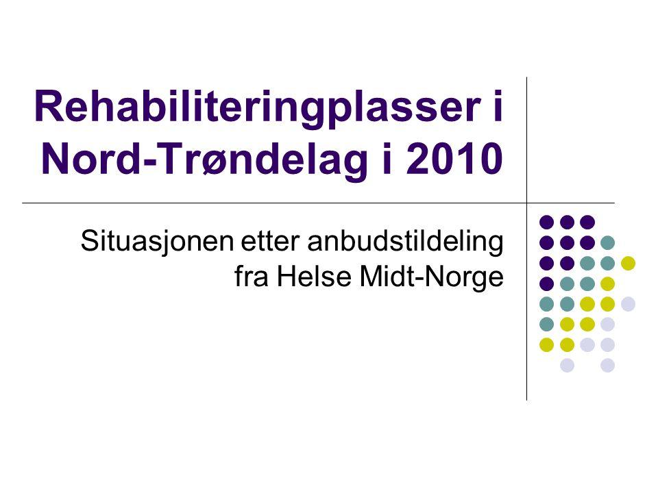 Rehabiliteringplasser i Nord-Trøndelag i 2010