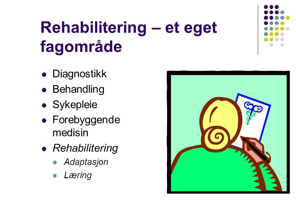 Rehabilitering – et eget fagområde