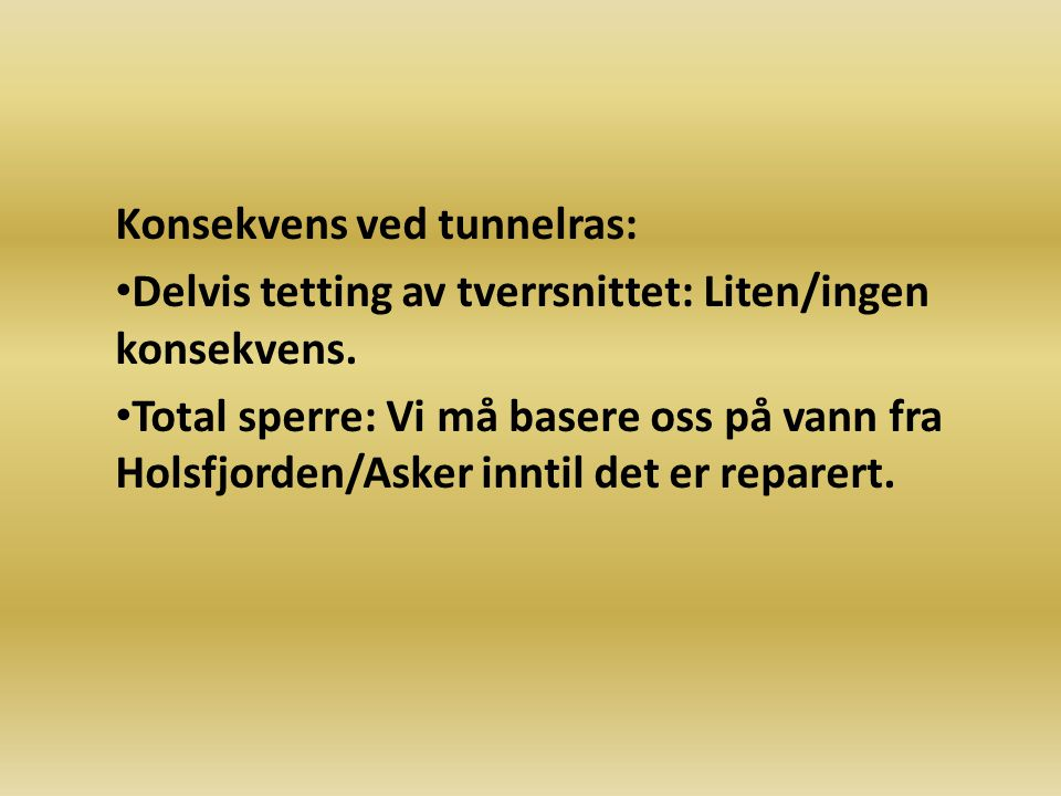 Konsekvens ved tunnelras: