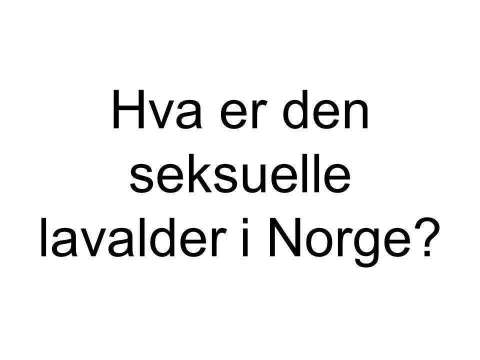 Hva er den seksuelle lavalder i Norge