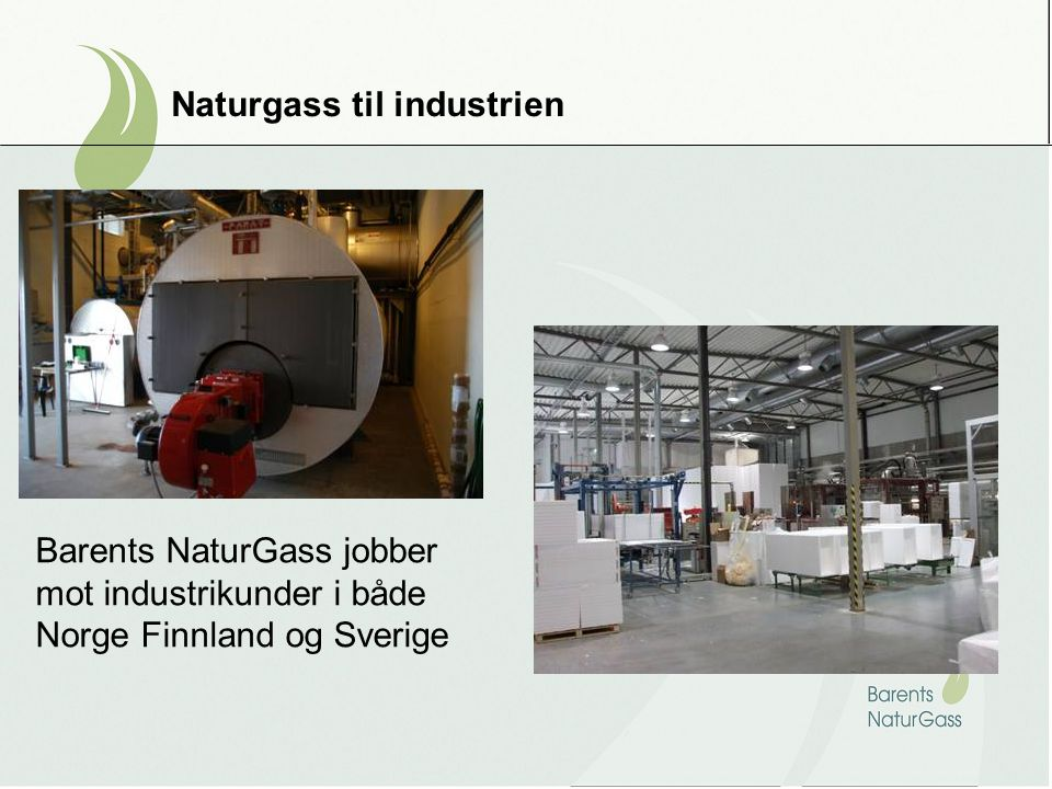 Naturgass til industrien