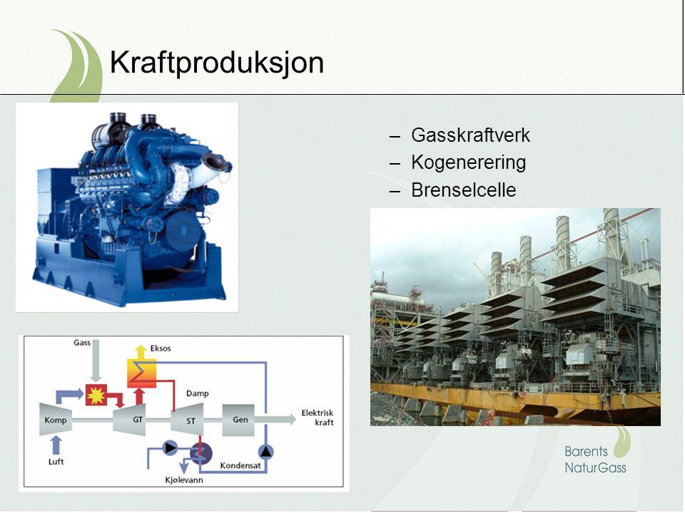 Kraftproduksjon Gasskraftverk Kogenerering Brenselcelle