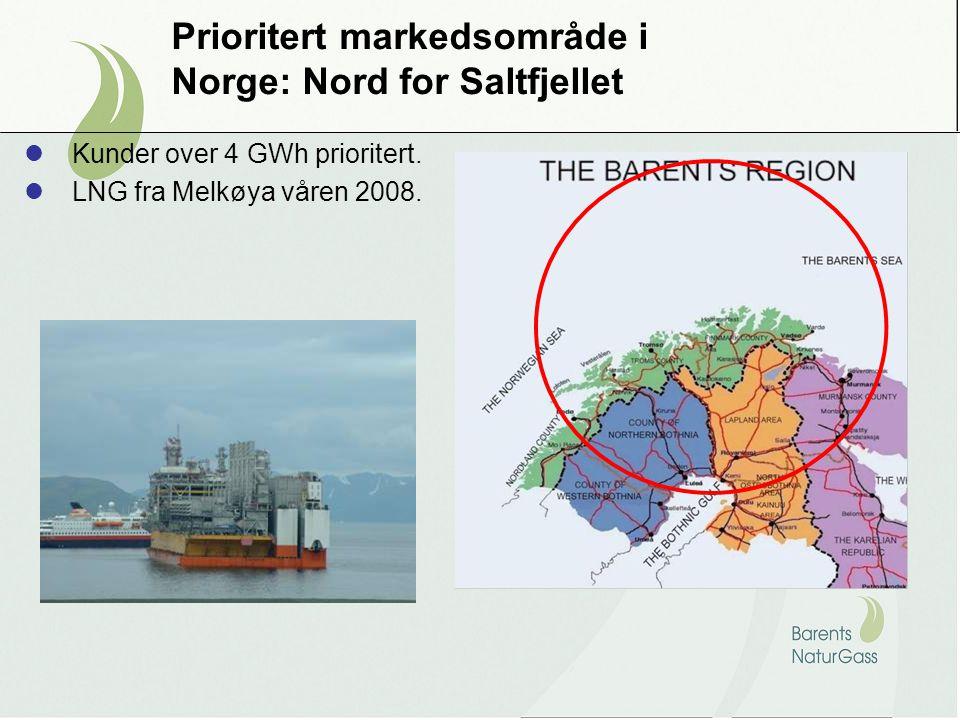 Prioritert markedsområde i Norge: Nord for Saltfjellet