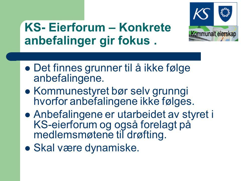 KS- Eierforum – Konkrete anbefalinger gir fokus .