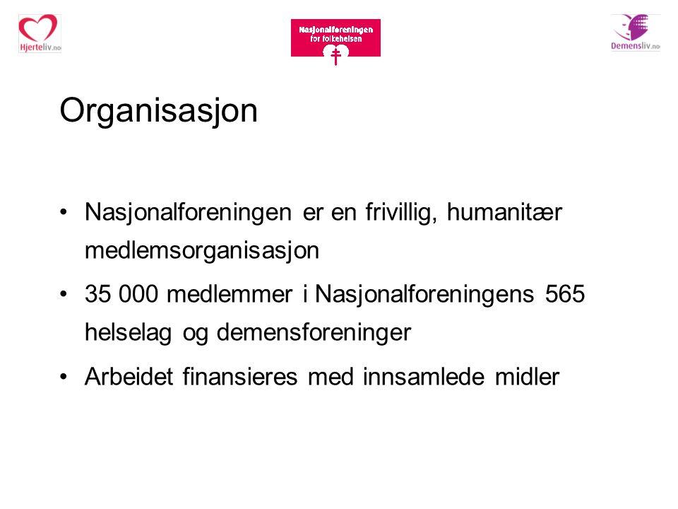Organisasjon Nasjonalforeningen er en frivillig, humanitær medlemsorganisasjon.