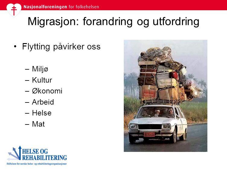 Migrasjon: forandring og utfordring