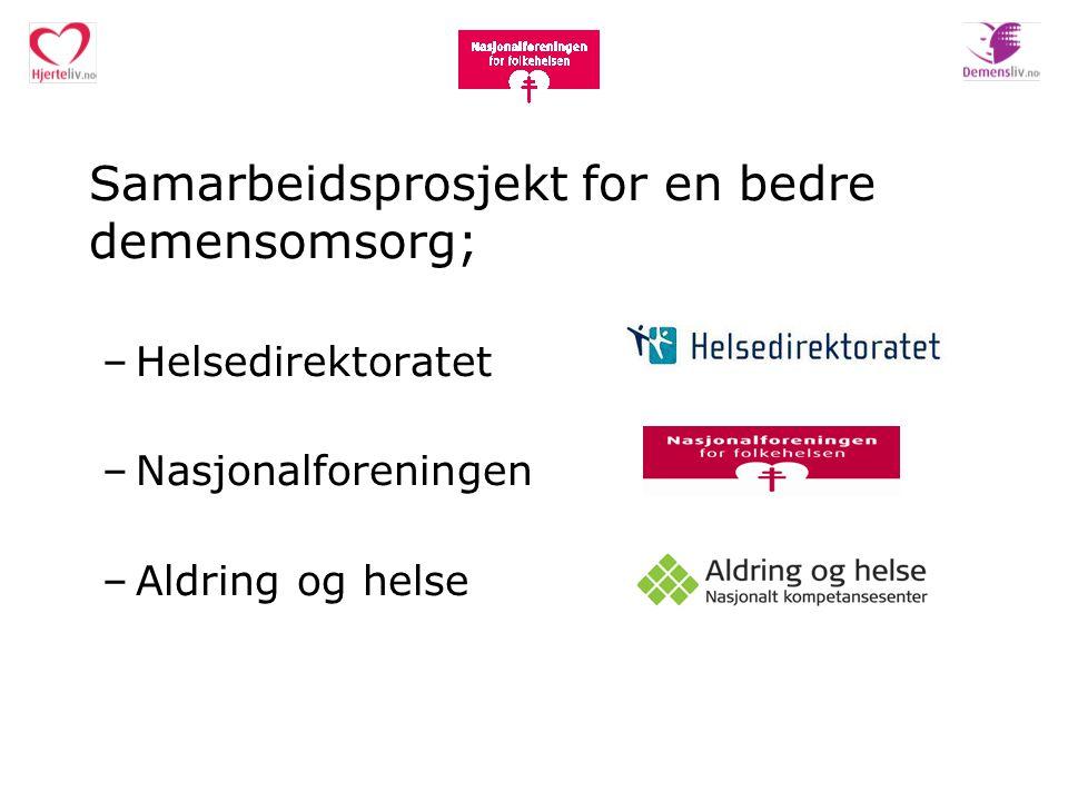 Samarbeidsprosjekt for en bedre demensomsorg;