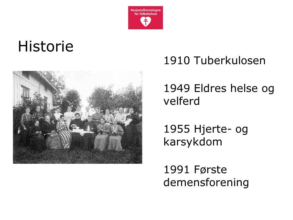 Historie 1949 Eldres helse og velferd 1955 Hjerte- og karsykdom