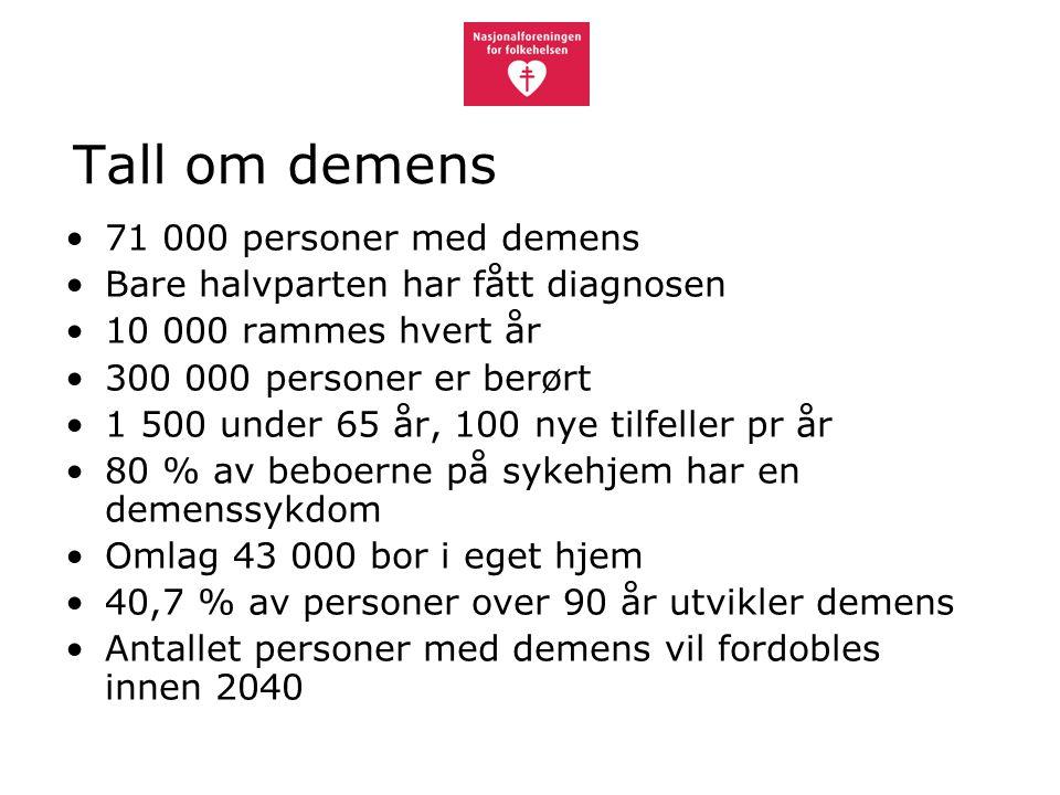 Tall om demens 71 000 personer med demens
