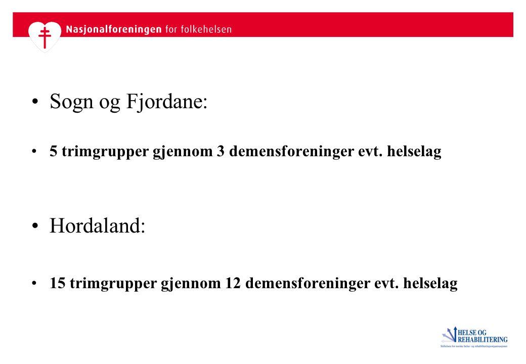 Sogn og Fjordane: Hordaland: