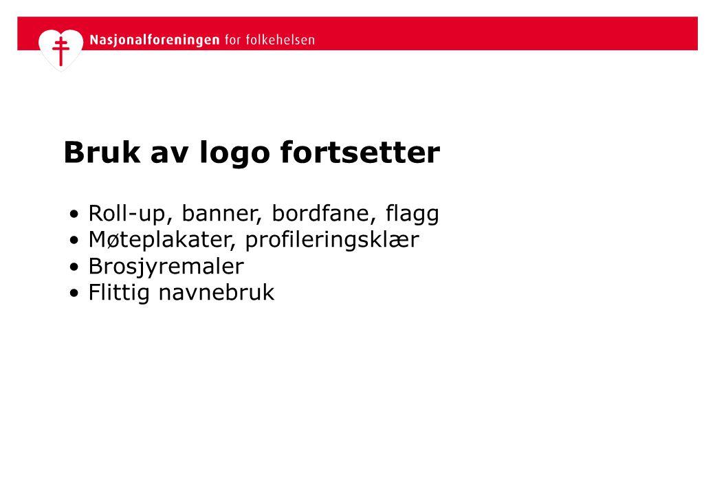 Bruk av logo fortsetter
