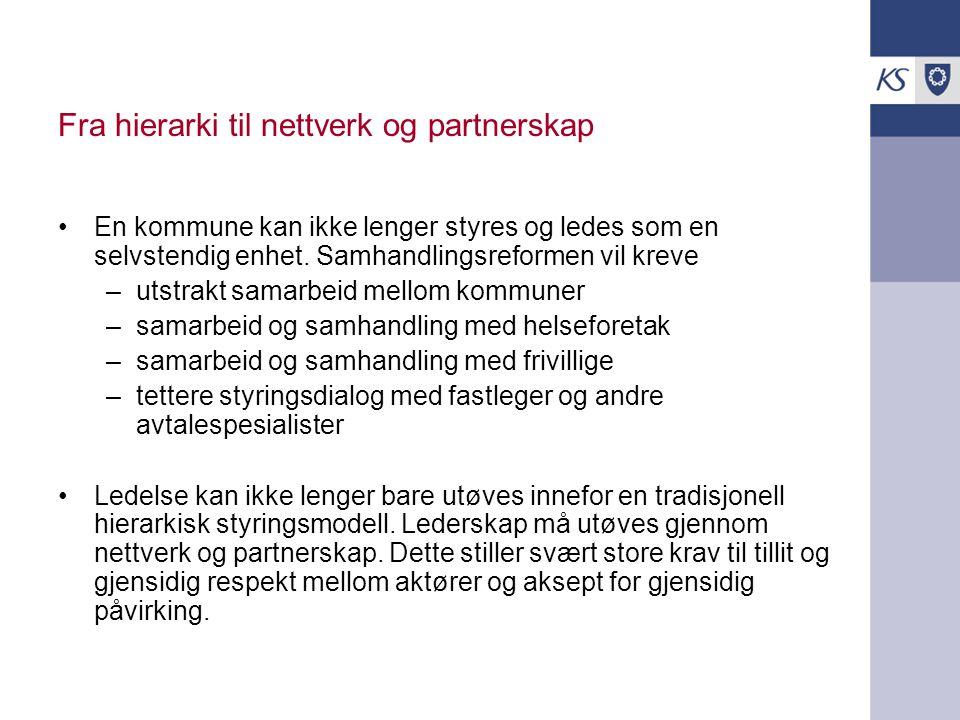 Fra hierarki til nettverk og partnerskap