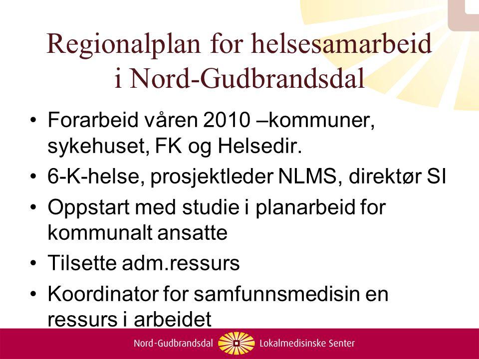 Regionalplan for helsesamarbeid i Nord-Gudbrandsdal