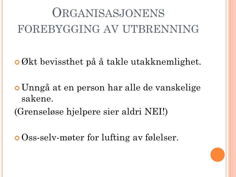 Organisasjonens forebygging av utbrenning