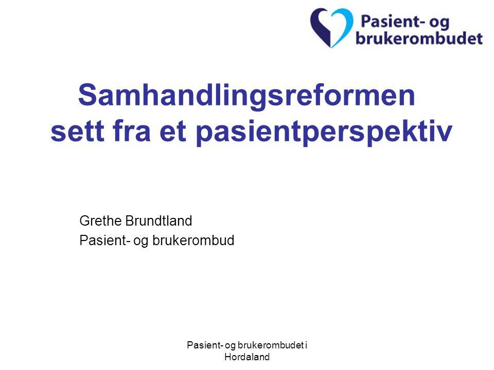 Samhandlingsreformen sett fra et pasientperspektiv