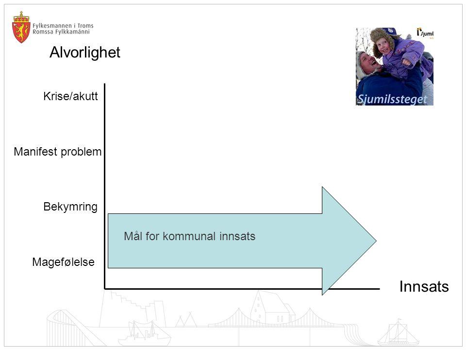 Alvorlighet Innsats Krise/akutt Manifest problem Bekymring