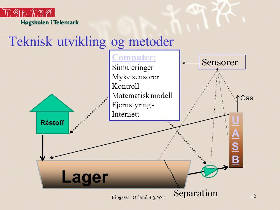 Teknisk utvikling og metoder