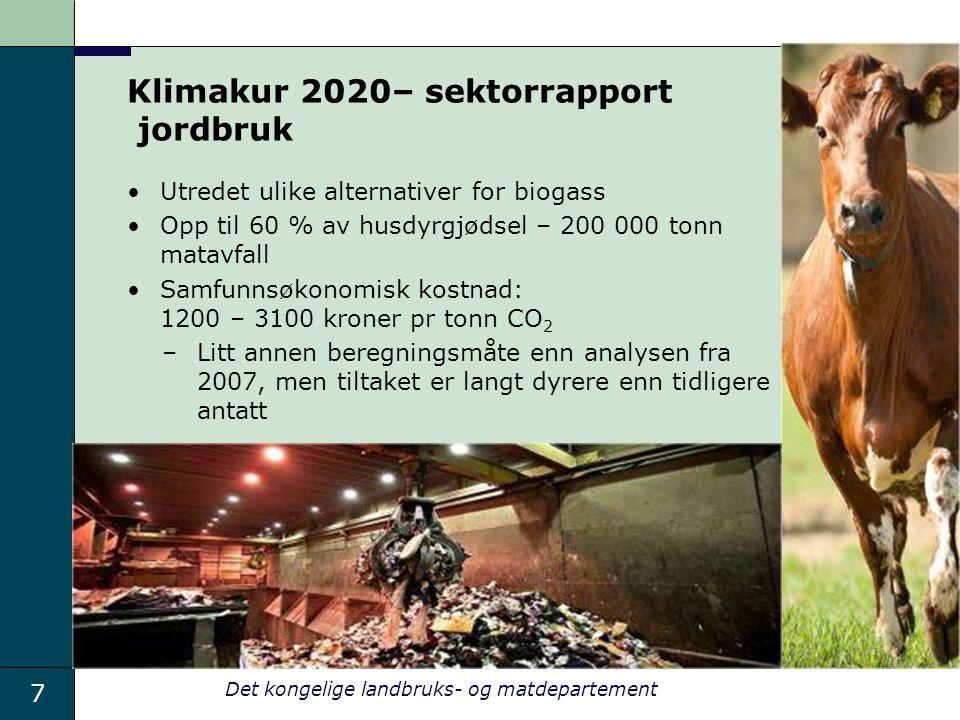 Klimakur 2020– sektorrapport jordbruk