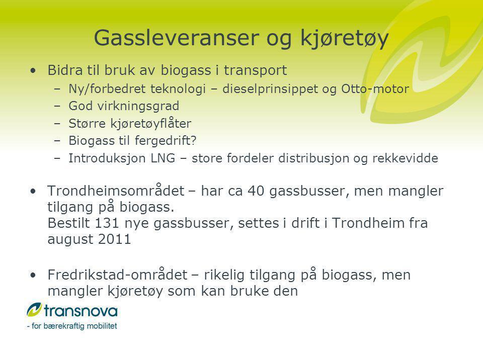 Gassleveranser og kjøretøy
