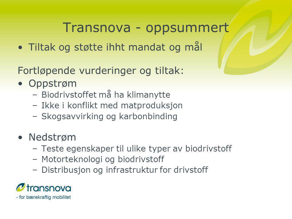 Transnova - oppsummert