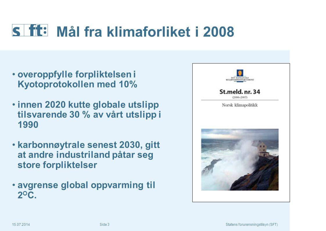 Mål fra klimaforliket i 2008