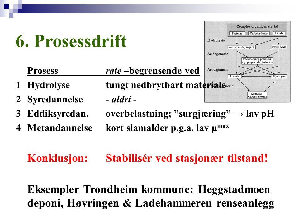 6. Prosessdrift Prosess rate –begrensende ved