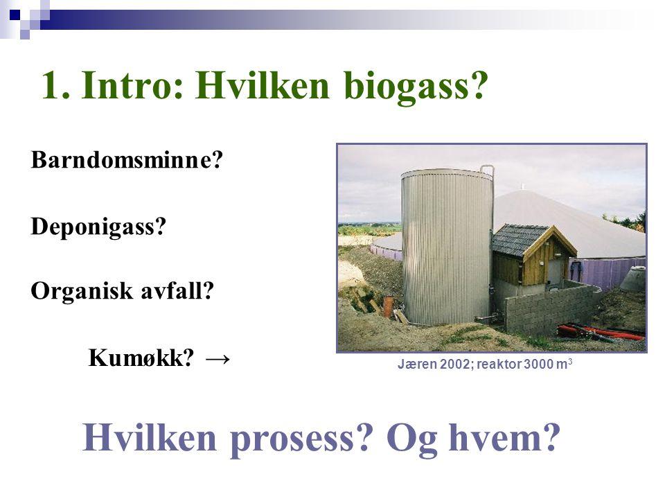 1. Intro: Hvilken biogass