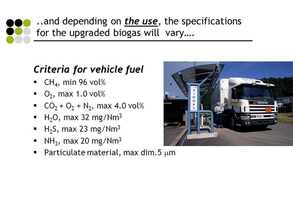 Criteria for vehicle fuel