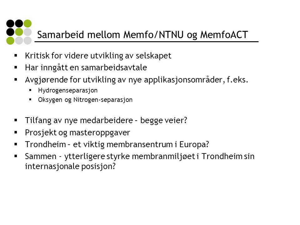 Samarbeid mellom Memfo/NTNU og MemfoACT