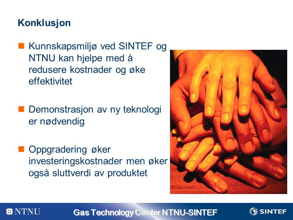 Konklusjon Kunnskapsmiljø ved SINTEF og NTNU kan hjelpe med å redusere kostnader og øke effektivitet.