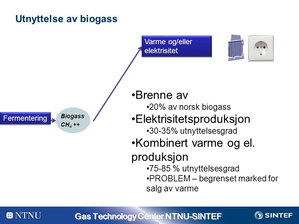 Elektrisitetsproduksjon Kombinert varme og el. produksjon