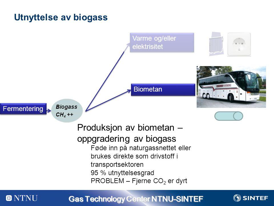 Produksjon av biometan – oppgradering av biogass