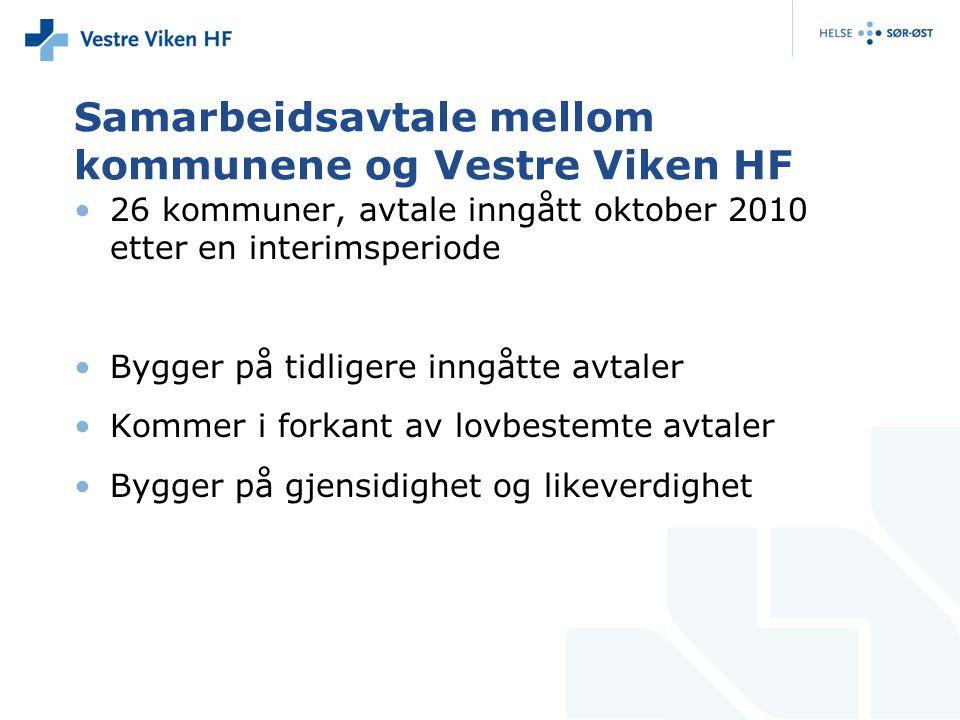 Samarbeidsavtale mellom kommunene og Vestre Viken HF
